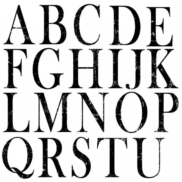 "Decor Stempel ""Typesetting"" Buchstaben & Zahlen"