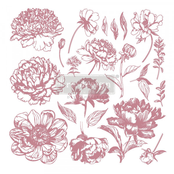 'Linear Floral' - Decor Stempel ReDesign