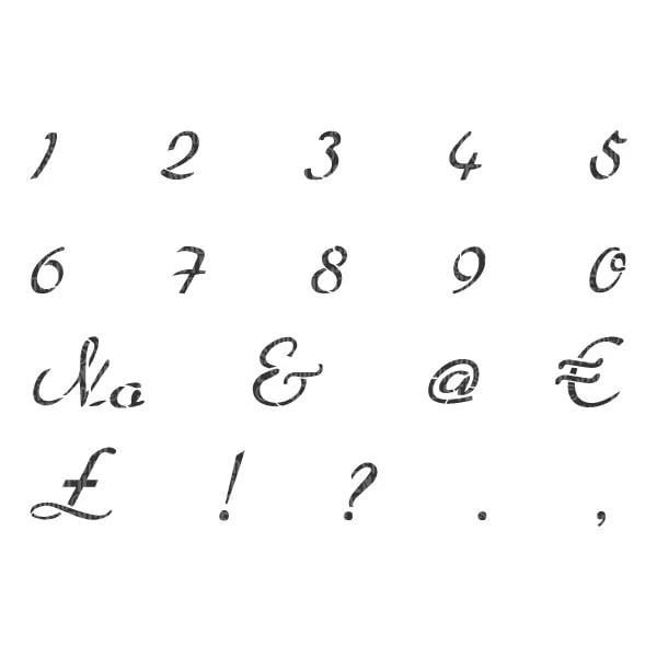 French Script Numbers