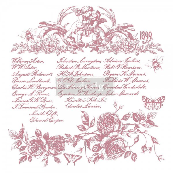 'Floral Script' - Decor Stempel ReDesign