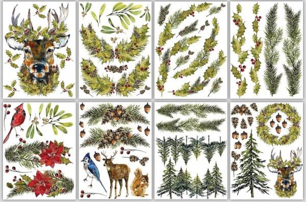 """Decor Transfer """"Woodland Christmas"""""""